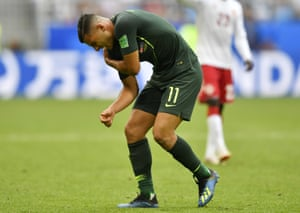 Nabbout grimaces in pain and crumples to the floor with what looks like a dislocated shoulder following an innocuous fall.