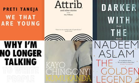 Nuanced stories: top row, books by Preti Taneja, Eley Williams and David Hayden shortlisted for the Republic of Consciousness prize; bottom row, Jhalak prize-listed titles by Reni Eddo-Lodge, Kayo Chingonyi and Nadeem Aslam