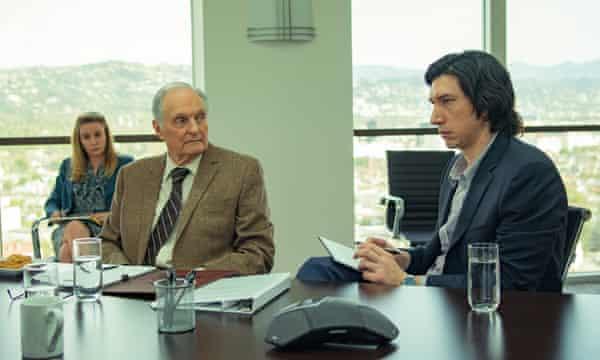 Alan Alda met Adam Driver in Marriage Story.
