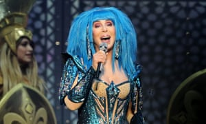 'What's your granny doing tonight?' ... Cher at the O2 Arena, London.