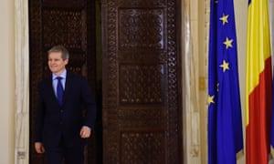 Romania's designated prime minister Dacian Cioloș at the Cotroceni Palace in Bucharest