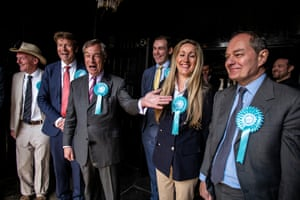 Brentwood, England Nigel Farage and Brexit party candidates