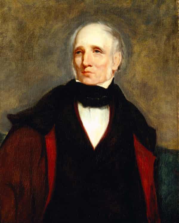 Portrait of William Wordsworth at Wordsworth House, Cockermouth, Cumbria.
