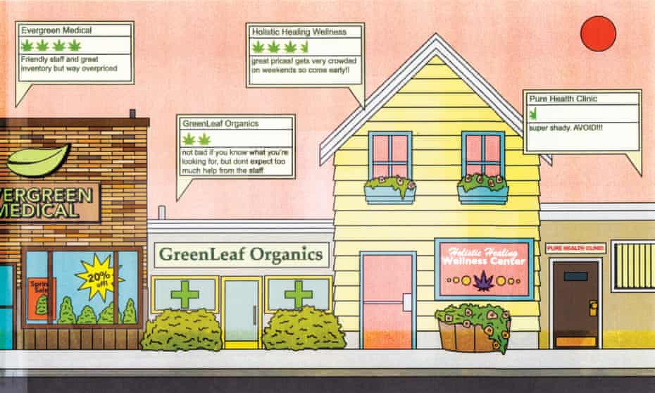 weedmaps illustration - dispensaries