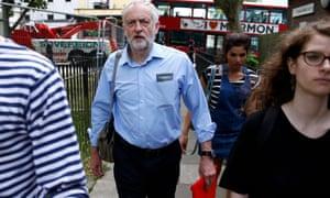 Jeremy Corbyn in London today.