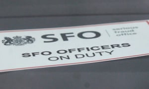 Serious Fraud Office sign