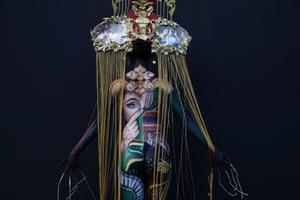 Daegu, South Korea: Models turn into canvases at the Daegu International Bodypainting Festival