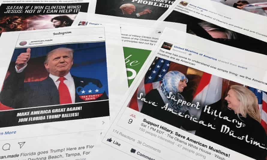 Facebook and Instagram ads linked to a Russian effort to disrupt the 2016 election.