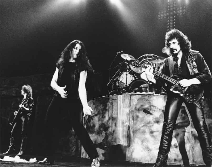 Gillan performing with Black Sabbath in 1984.