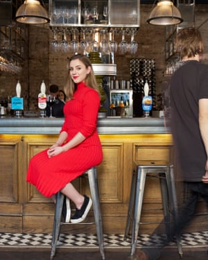 Alexandra Jones, photographed in the Culpeper pub, London. Photograph: Suki  Dhanda/The Guardian. Hair and makeup: Desmond Grundy at Terri Manduca.