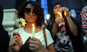 Candlelight vigil for the victims of the EgyptAir flight.