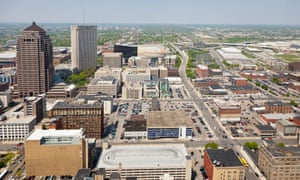 Aerial view of downtown Columbus, Ohio