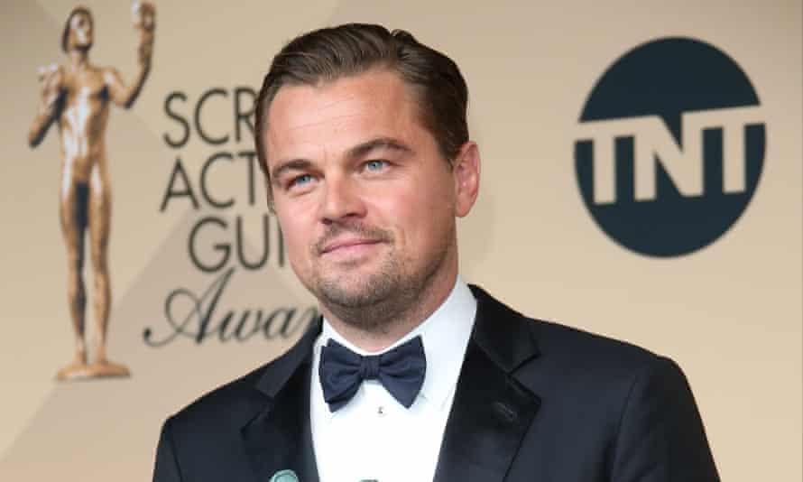 Leonardo DiCaprio at the Screen Actors Guild awards.