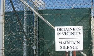 Sign at Camp VI inside Guantánamo