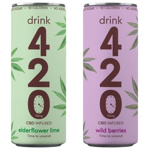 Drink 420 – CBD infused elderflower & lime or wild berry drink