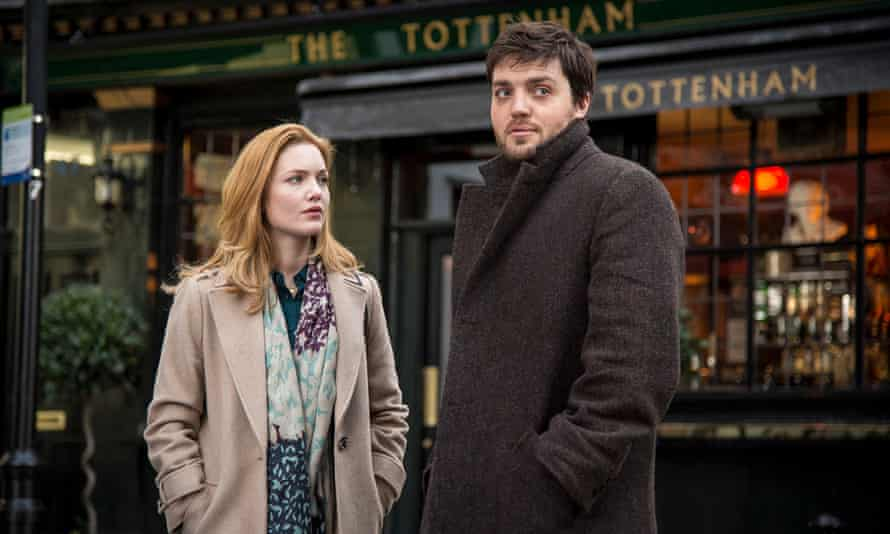 Robin Ellacott and Tom Burke as Cormoran Strike in The Strike Series for BBC