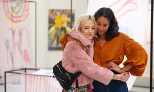Bria Vinaite and Laura Harrier in Balance, Not Symmetry.