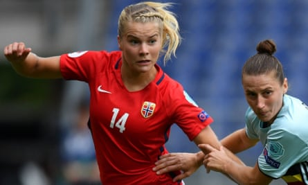 Ada Hegerberg, left, of Norway in action during the team's Euro 2017 campaign.