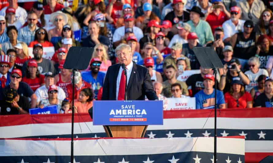 Donald Trump speaks at a rally in Ohio on June 26.