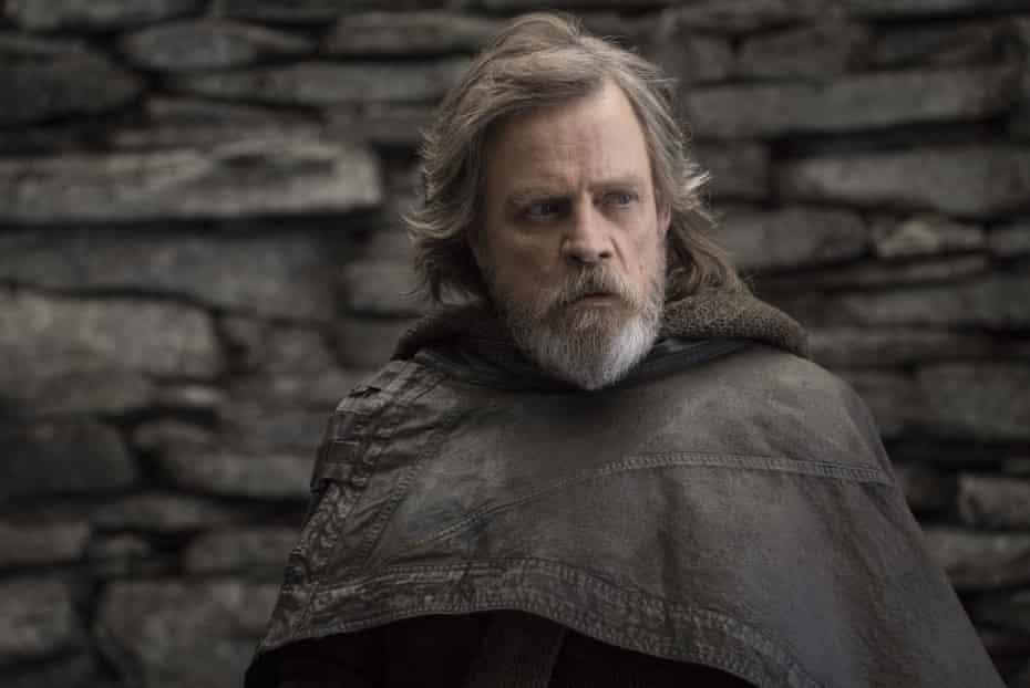 Hamill as Luke Skywalker in Star Wars: The Last Jedi