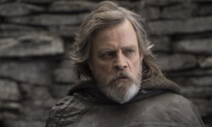 Poignantly grizzled … Mark Hamill as Luke Skywalker. Star Wars