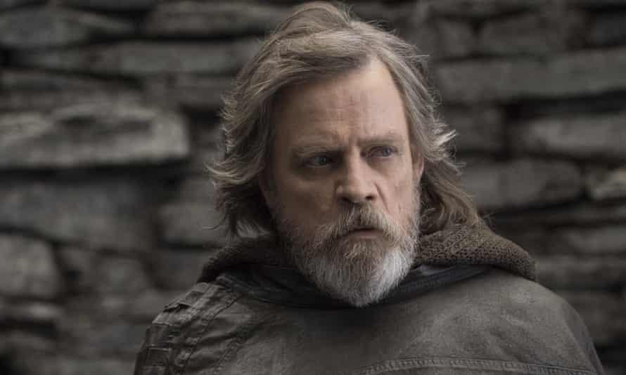 Mark Hamill as Luke Skywalker in the latest film