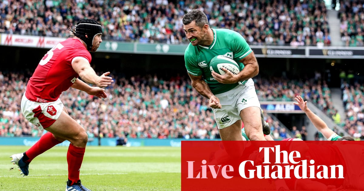 Ireland v Wales: Rugby World Cup warm-up match – live!