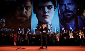 Director Alexei Uchitel speaks to the media at the premiere of Matilda in Moscow.