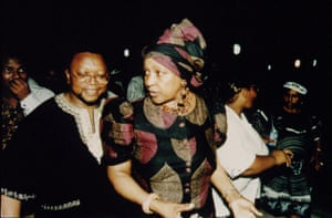 Winnie in Mmabatho after the fall of Lucas Mangope in 1994