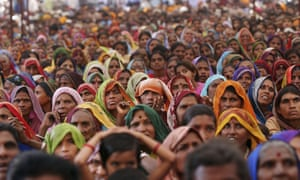 Adavasi women at a rally in 2005 marking 20 years of the resistance movement against the controversial Sardar Sarovar dam project.