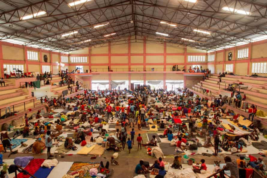Internally displaced Haitians living at a sports centre in Port-au-Prince last month after fleeing gang violence
