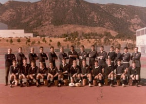 The West Point team, with McMaster kneeling fourth left on the front row, before facing Air Force in 1983.