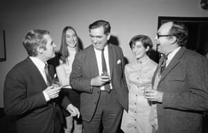 Morecambe and Wise with the Labour politician Denis Healey and his two daughters