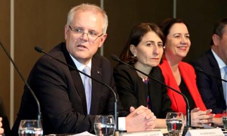 Scott Morrison, Gladys Berejiklian and Annastacia Palaszczuk