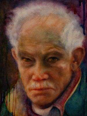 Father by Kim Novak, watercolour.