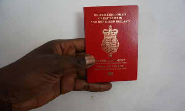 A UK stateless travel document.