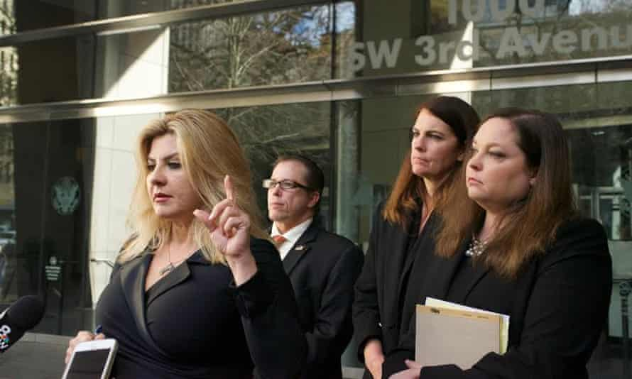 Michele Fiore said outside the courthouse that the occupiers were exercising their 'political free speech'.