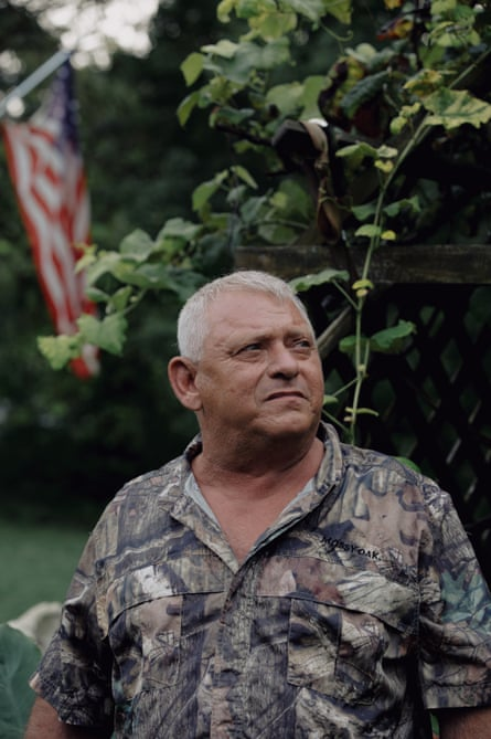 Frankie Norris at his home in Albany, Kentucky. Norris, a first responder, says he started developing sores on his body after six months of working at the Kingston spill.