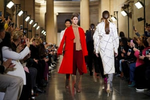 The collection showed Beckham returning to a body-conscious silhouette