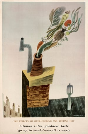 The Effects of Overcooking and Keeping Hot, poster for the Ministry of Food, 1943 by George Him.