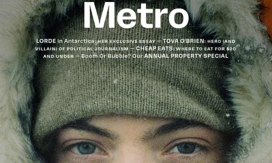 Metro Cover with musician Lorde on the front.