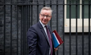 Michael Gove, the environment secretary, leaves a cabinet meeting on 14 November.