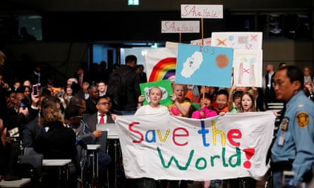 Children at the climate march prior to the opening session of the COP23 climate change conference in Bonn