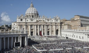 St Peter's Square at the Vatican during a jubilee mass.