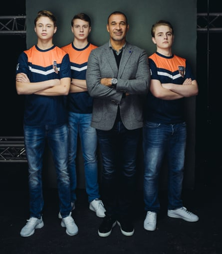 Team Gullit … former Netherlands star Ruud Gullit and his team of gamers.