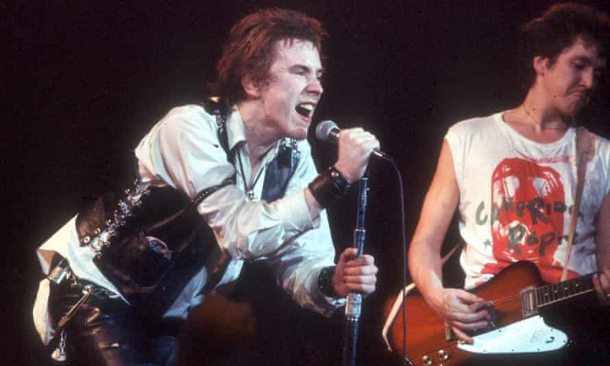 'The moment that British society and culture changed for ever' ... Johnny Rotten, left, and Steve Jones in 1978.