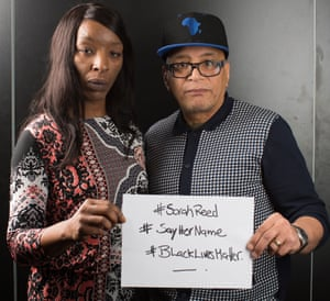 Marylin Reed with Lee Jasper, who is co-ordinating the Sarah Reed justice campaign.