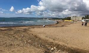 The beach at Santa Severa.