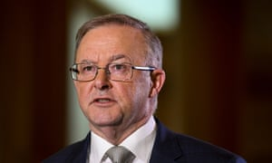 Anthony Albanese speaks during a press conference in Canberra on Friday