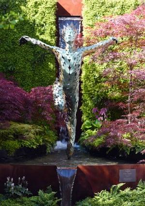 Celeste, a life-size ballerina made of 1,000 bronze leaves, by sculptor Simon Gudgeon
